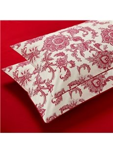 60s Cotton Floral Reactive Printing Pillowcase Cotton Bed Pillow Cases