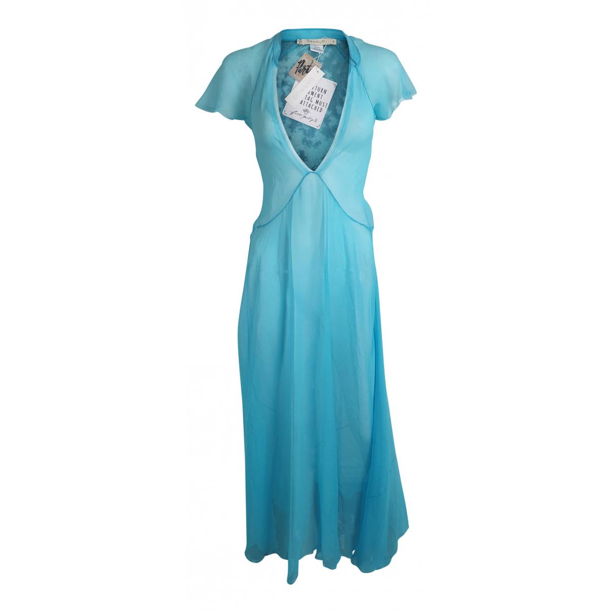 Dannijo \N Kleid in  Blau Seide