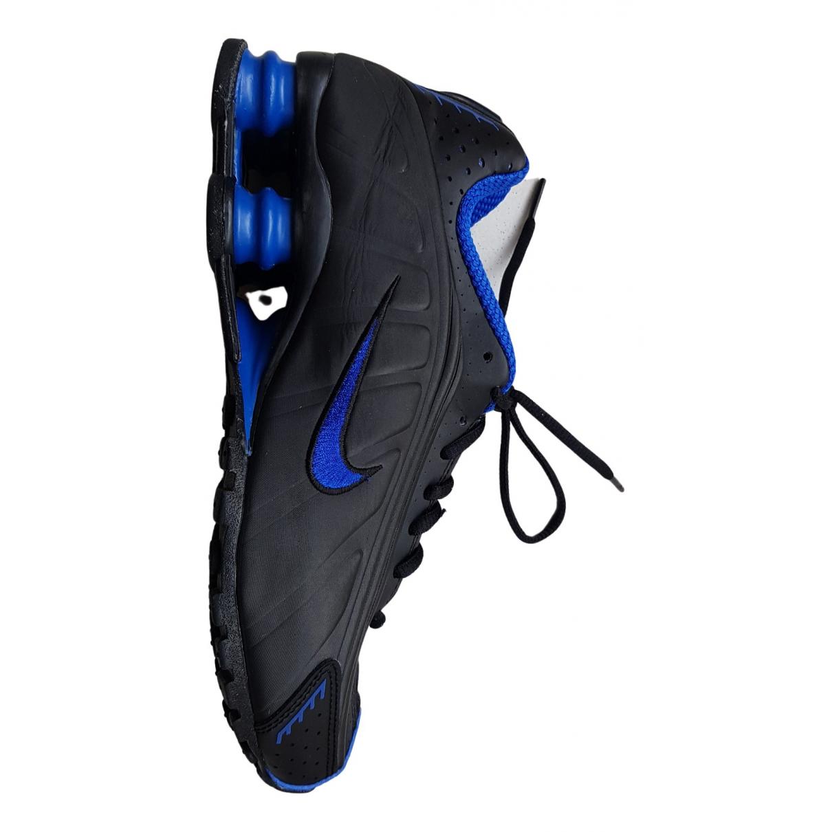 Nike Shox Black Rubber Trainers for Men 39 EU