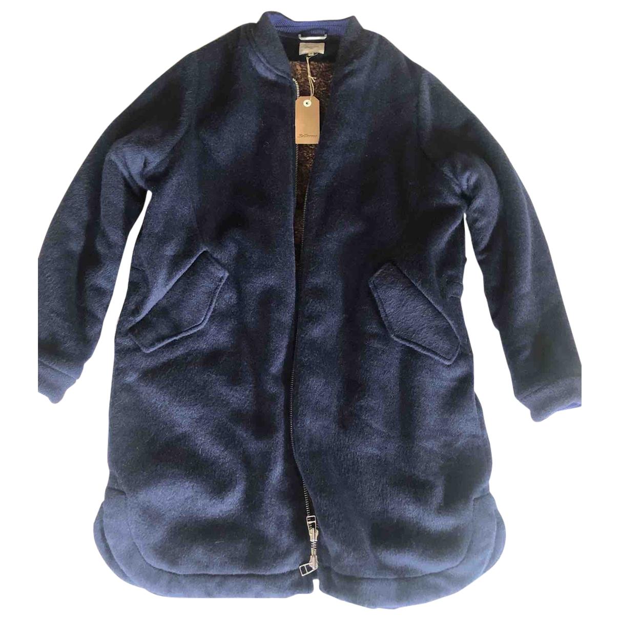 Bellerose - Manteau   pour femme en laine - bleu