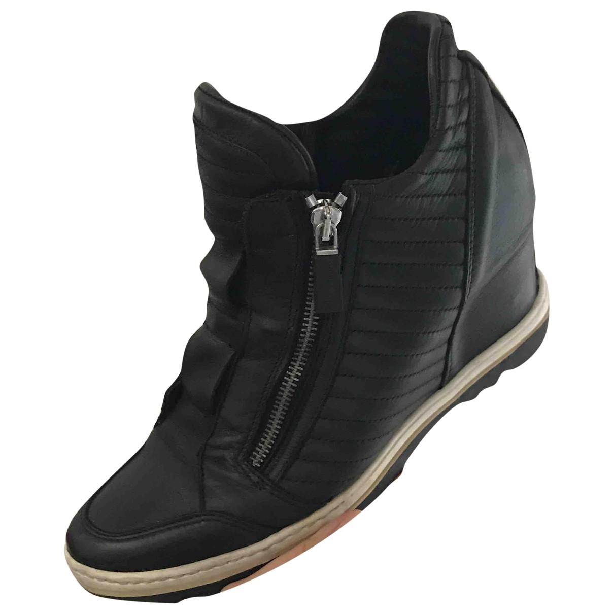 Baldinini - Baskets   pour femme en cuir - noir
