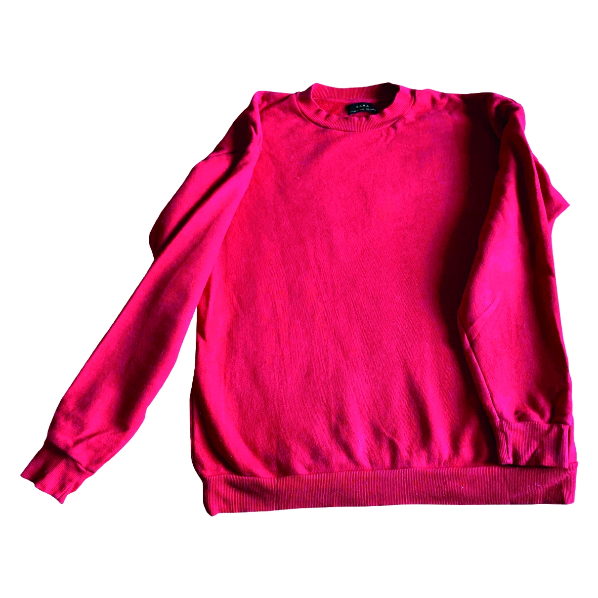 Zara \N Pullover.Westen.Sweatshirts  in  Rot Baumwolle