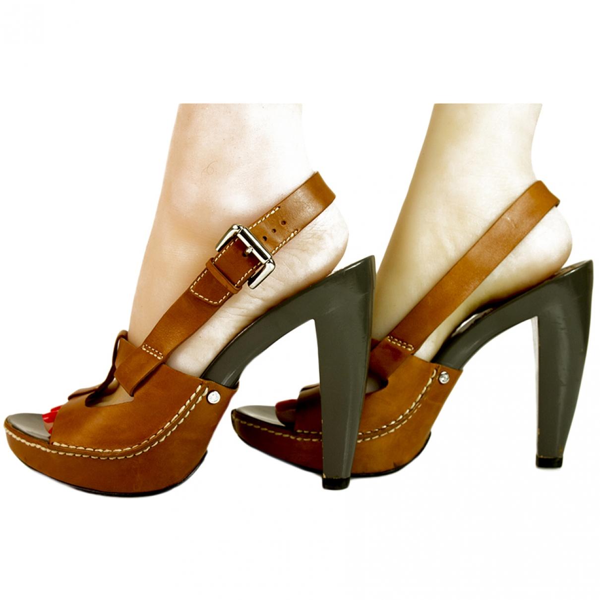Celine \N Camel Leather Sandals for Women 39 EU