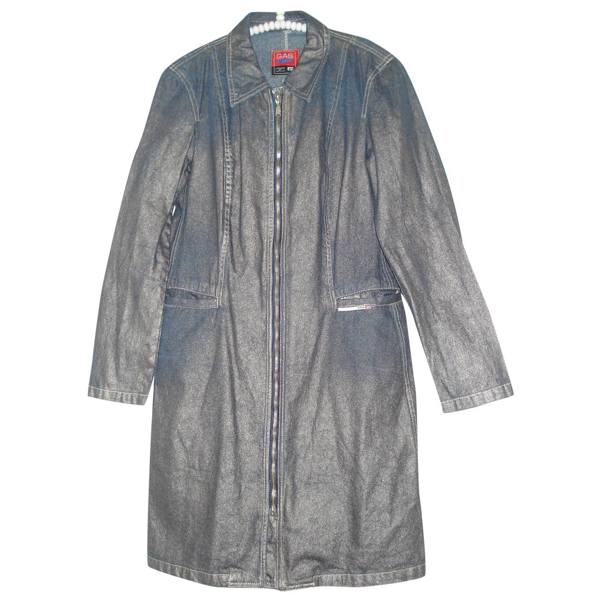 Gas - Manteau   pour femme en coton - bleu