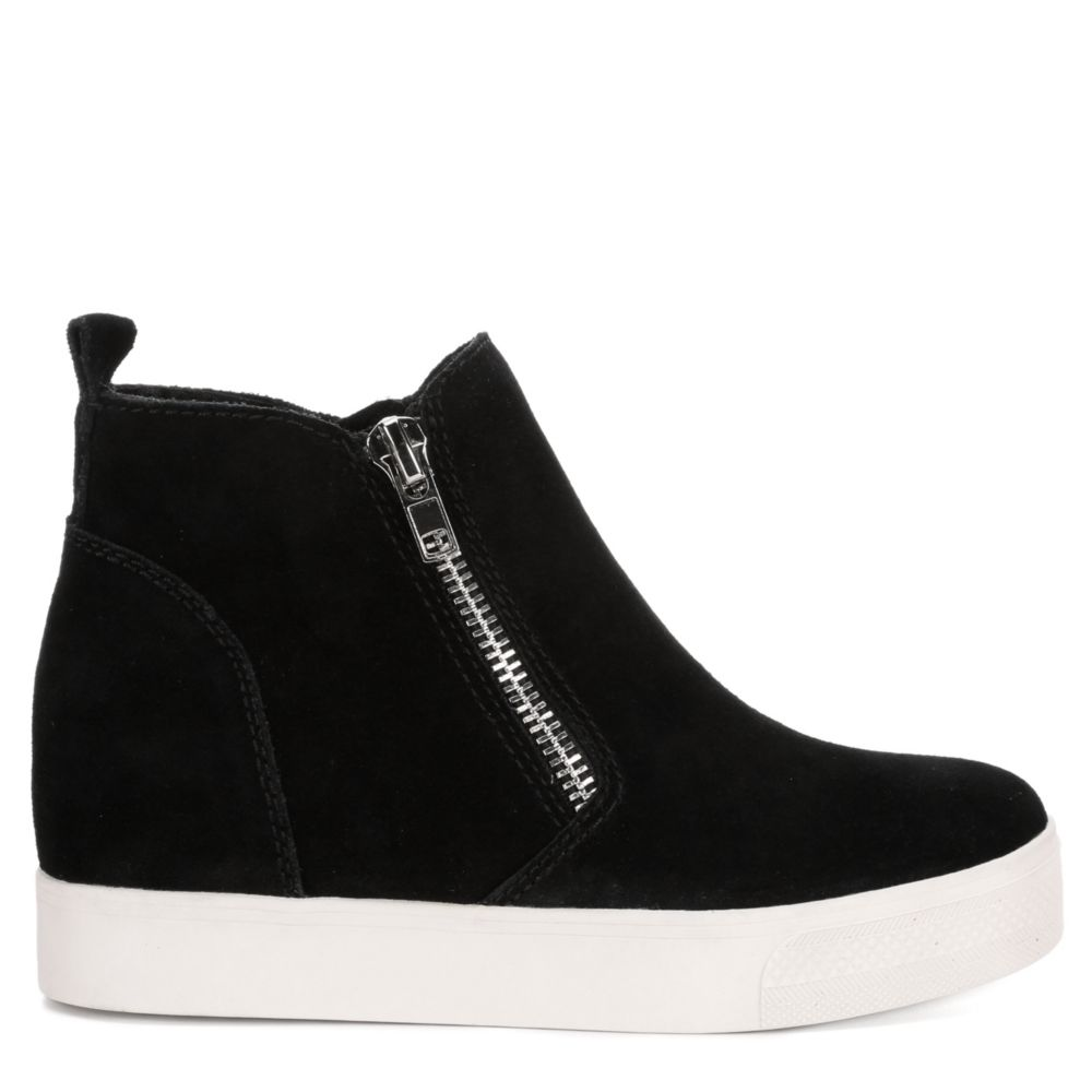 Steve Madden Womens Wedgie High-Top Wedge Shoes Sneakers