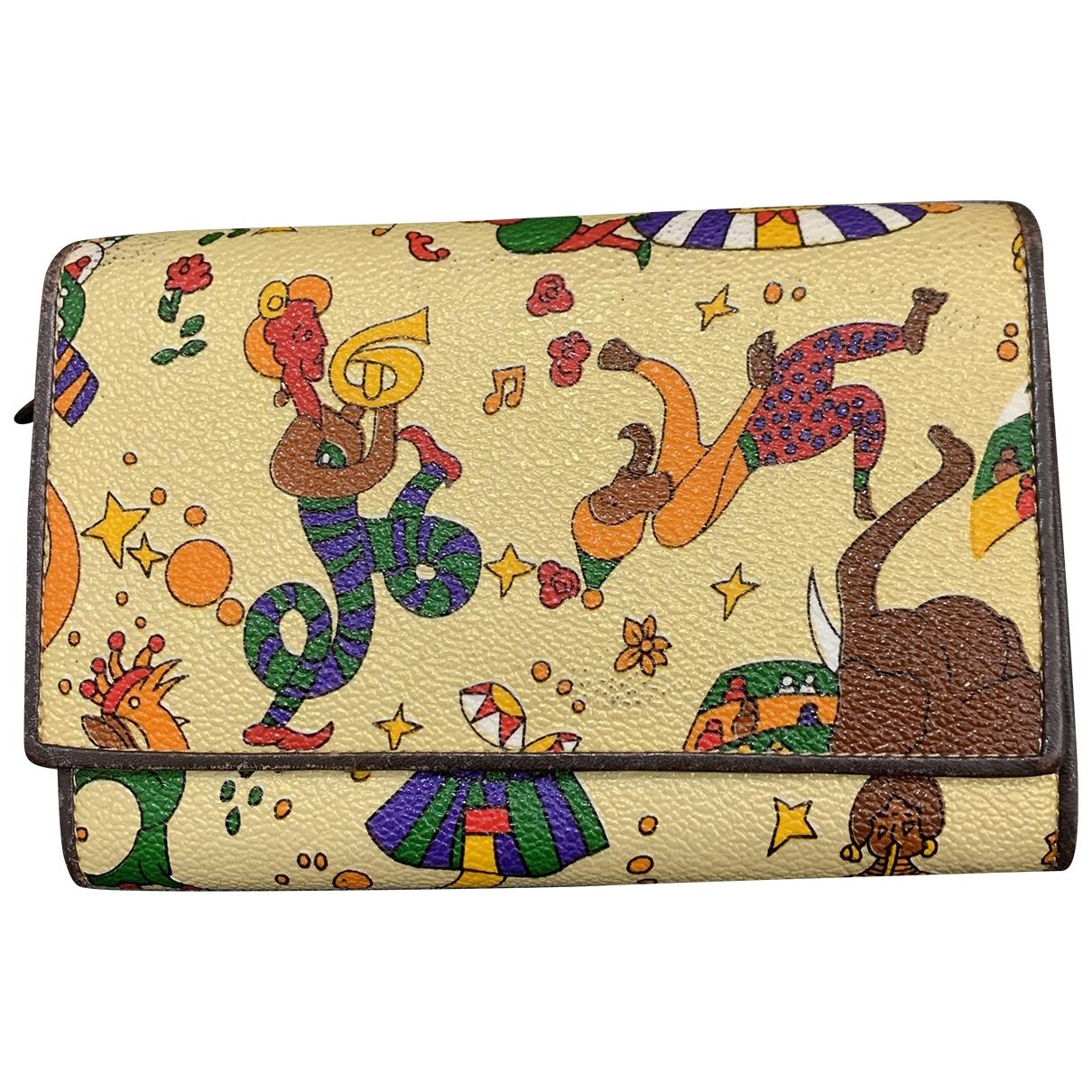Guidi - Portefeuille   pour femme en cuir - multicolore