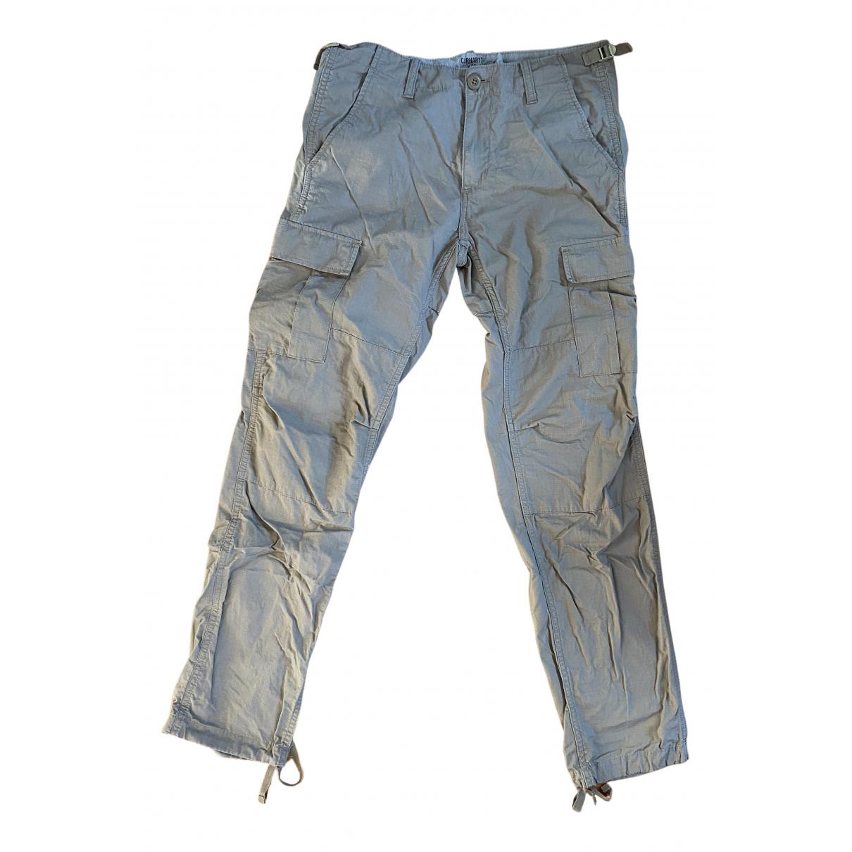 Carhartt N Beige Cotton Trousers for Men 32 UK - US