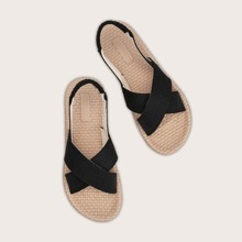 Cross Strap Slingback Sandals
