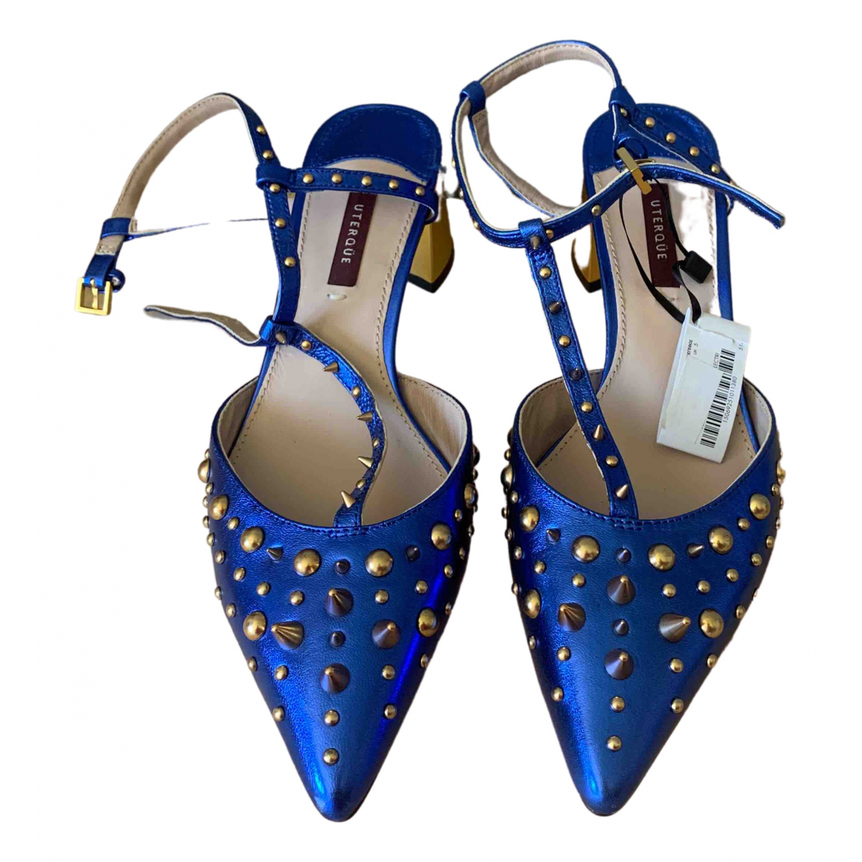 Uterque \N Metallic Leather Heels for Women 38 EU