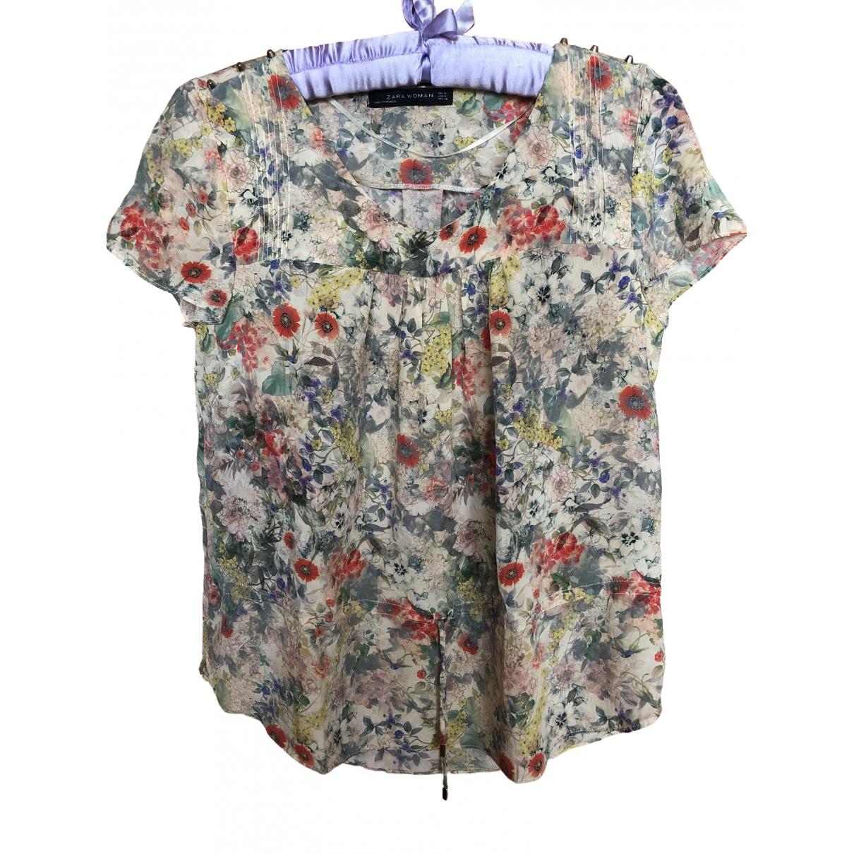 Zara - Top   pour femme en soie