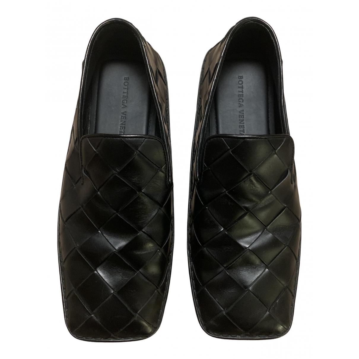 Bottega Veneta \N Black Leather Flats for Men 44 EU