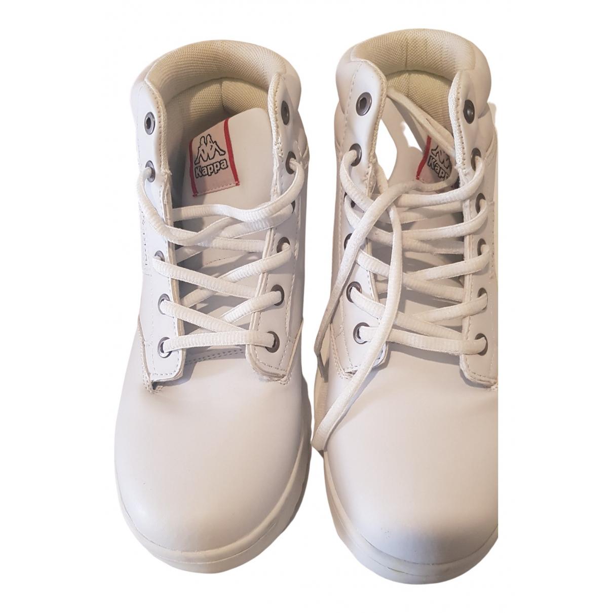 Kappa \N Sneakers in  Weiss Lackleder