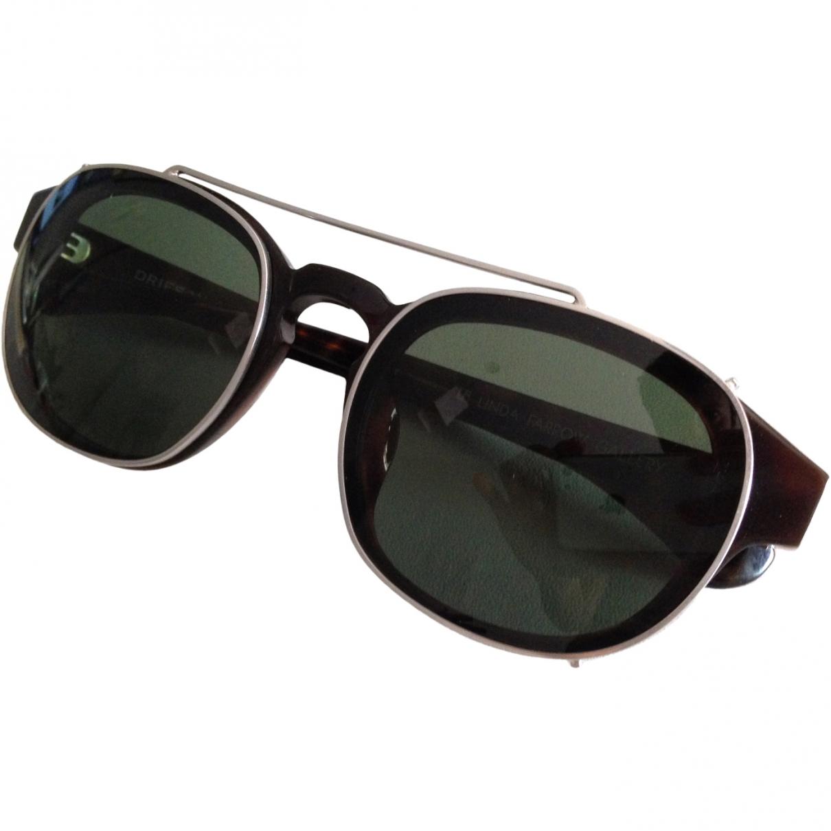 Dries Van Noten \N Sonnenbrillen in  Schwarz Kunststoff