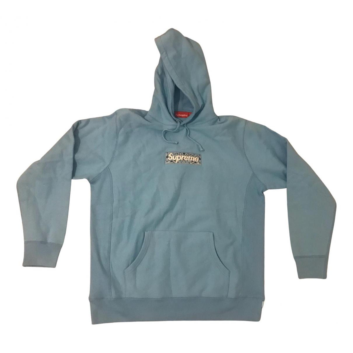 Supreme \N Pullover.Westen.Sweatshirts  in  Blau Baumwolle