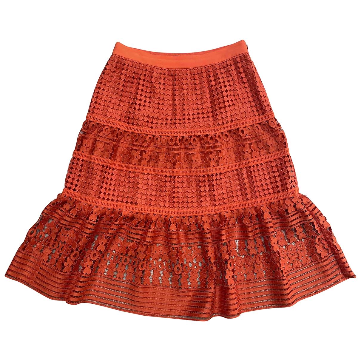 Diane Von Furstenberg \N Rocke in  Orange Baumwolle