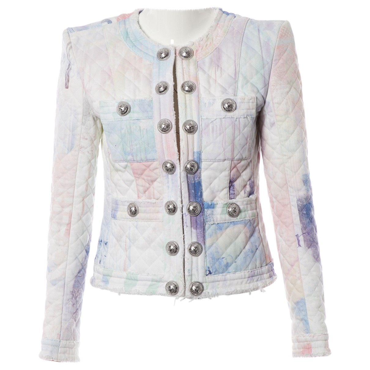 Balmain - Veste   pour femme en coton - multicolore
