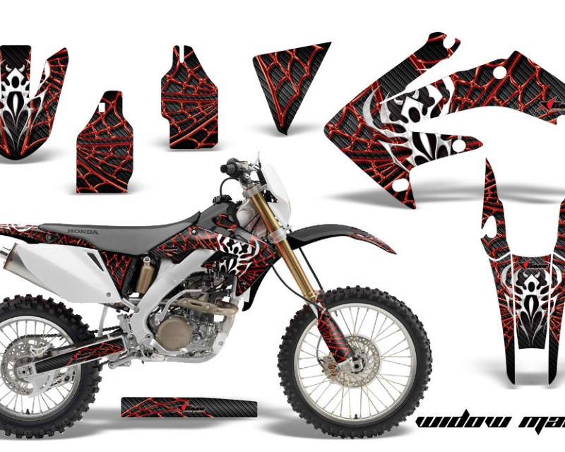 AMR Racing Dirt Bike Decal Graphics Kit MX Sticker Wrap For Honda CRF250X 2004-2017áWIDOW RED BLACK