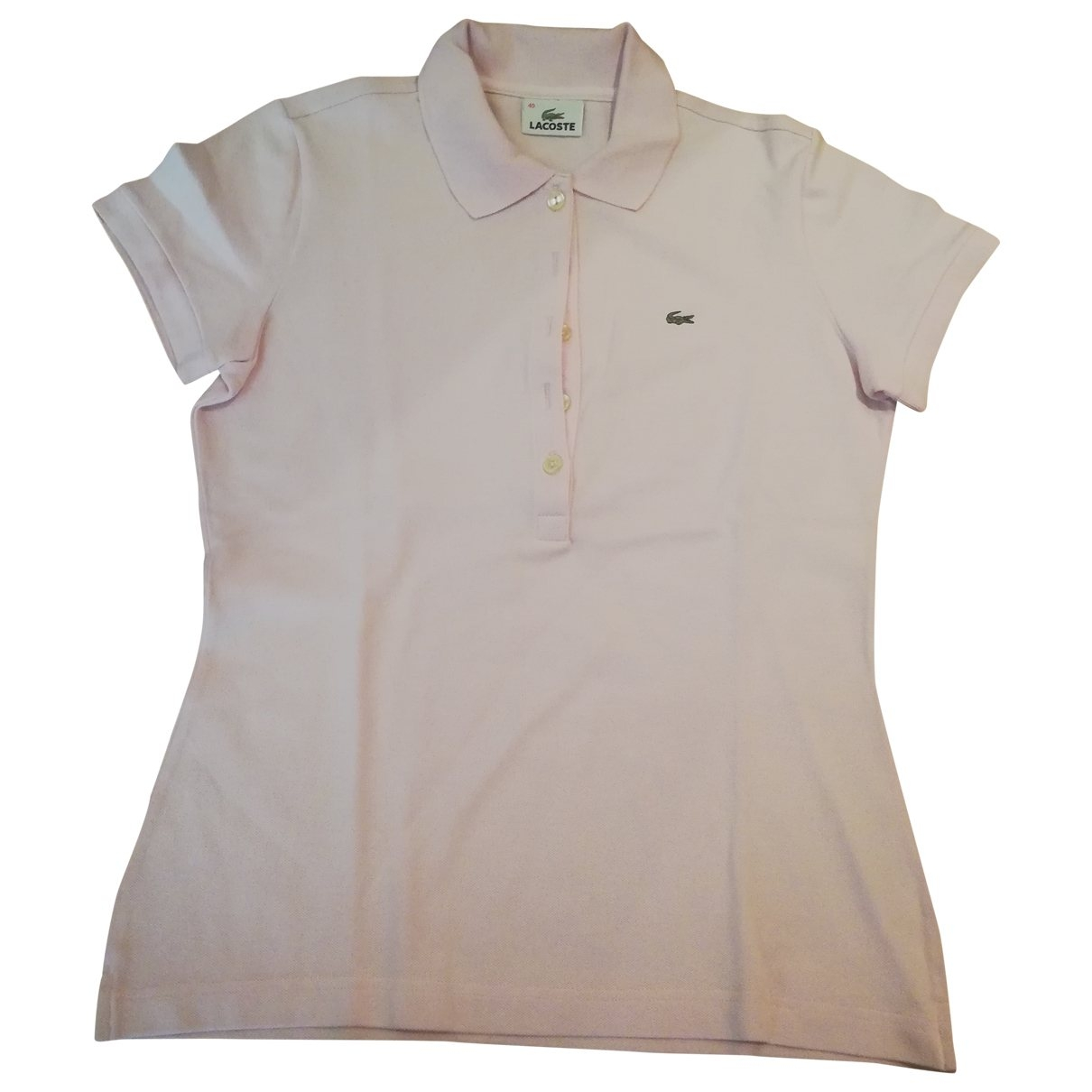 Lacoste \N Pink Cotton  top for Women 40 FR