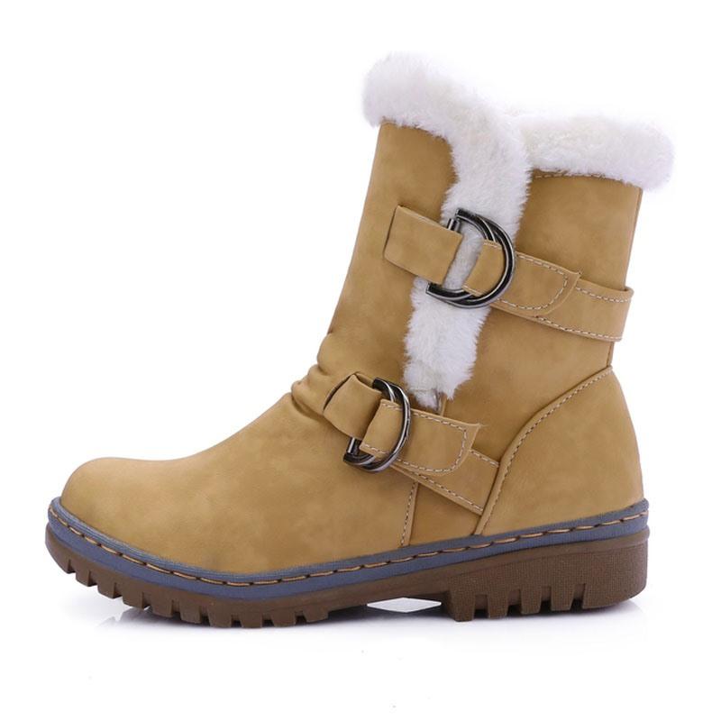 Ericdress Round Toe Hasp Women's Snow Boots