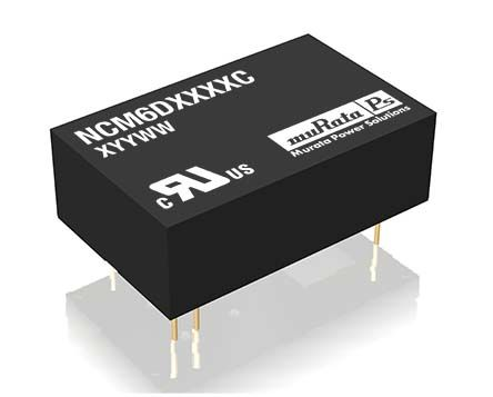 Murata Power Solutions NCM6 6W Isolated DC-DC Converter Through Hole, Voltage in 4.5 → 9 V dc, Voltage out ±12V