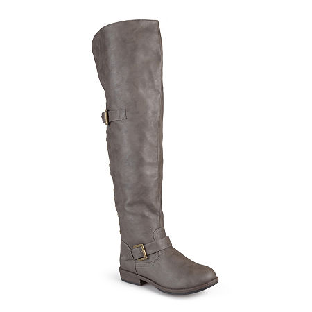 Journee Collection Womens Kane Over-The-Knee Riding Boots, 11 Medium, Beige