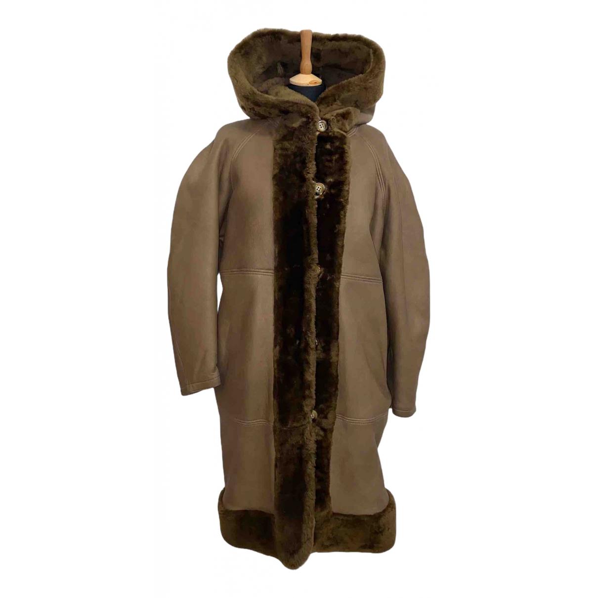 Yves Saint Laurent - Manteau   pour femme en mouton - camel