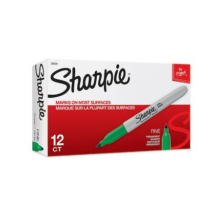 Sharpie@ Fine Tip Permanent Marker, 12/Box - Green