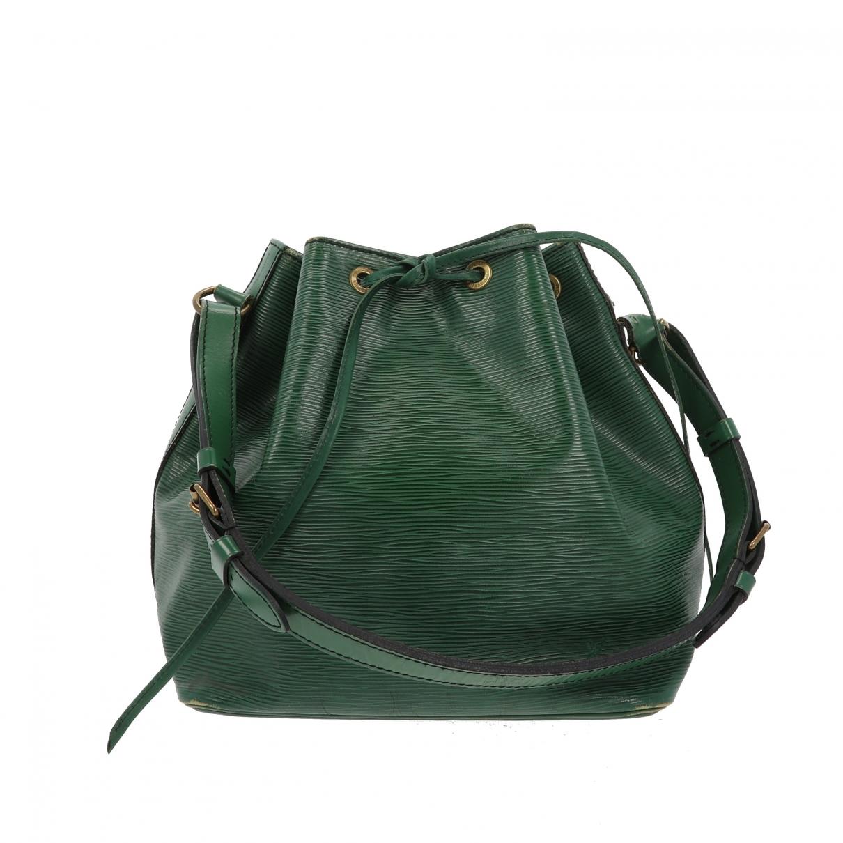 Louis Vuitton Noe Handtasche in  Gruen Leder