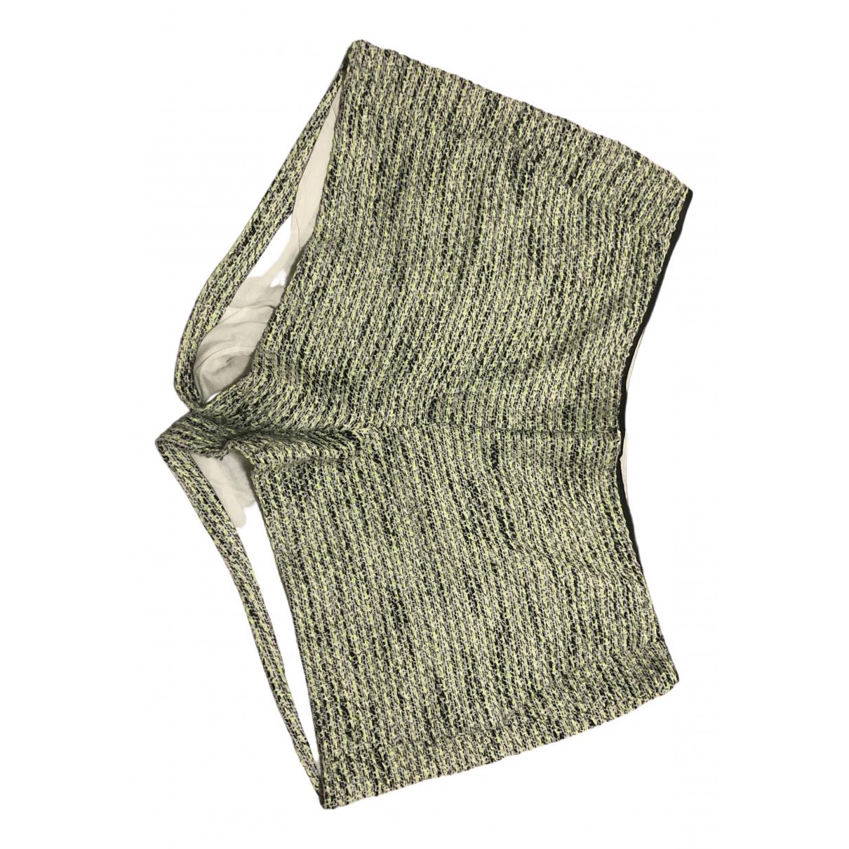 Sandro N Green Tweed Shorts for Women 40 FR