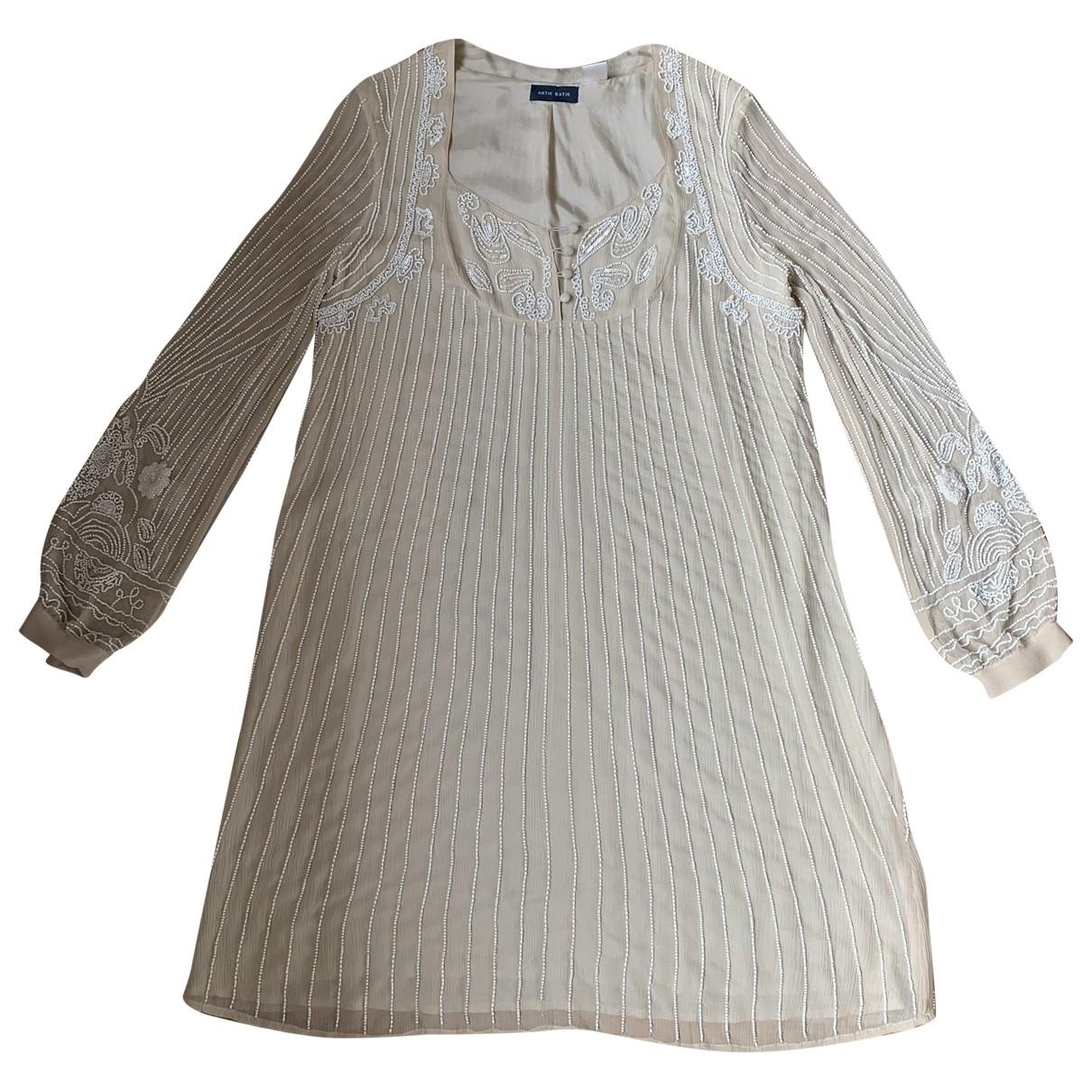 Antik Batik - Robe   pour femme en soie - beige