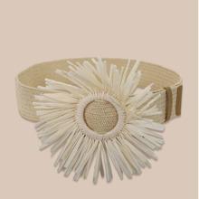 Flower Decor Woven Belt