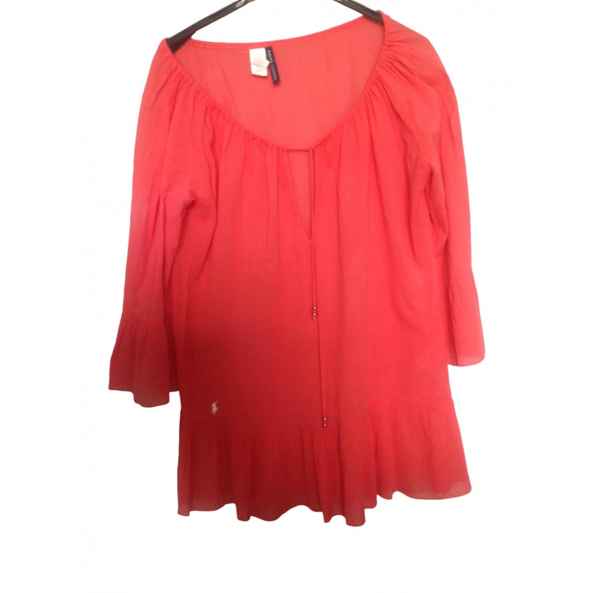 Ralph Lauren \N Red Cotton dress for Women 44 FR