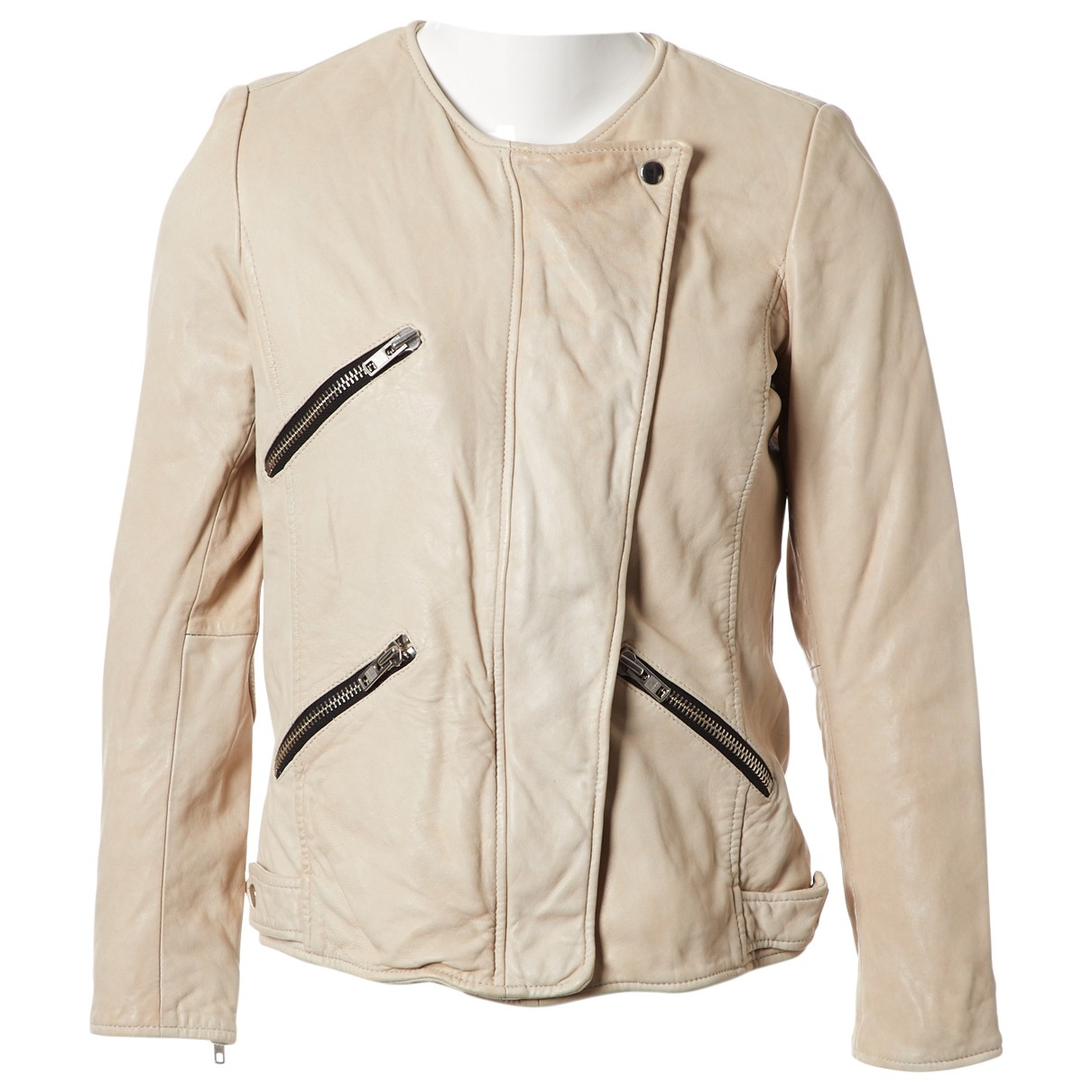 Isabel Marant \N Beige Leather jacket for Women 36 FR