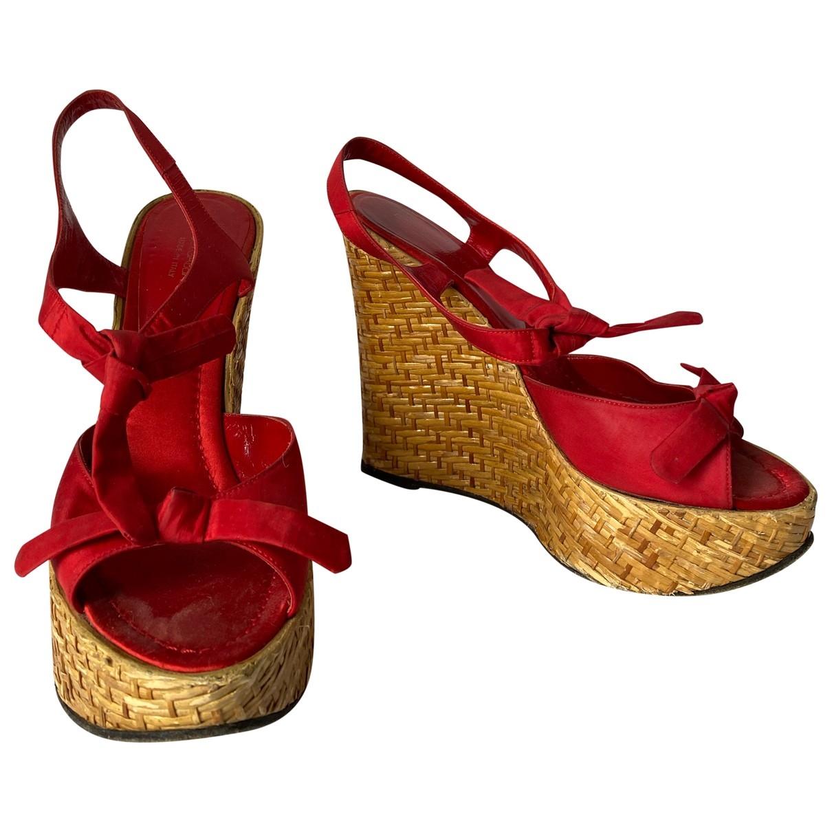 Dolce & Gabbana \N Espadrilles in  Rot Leinen