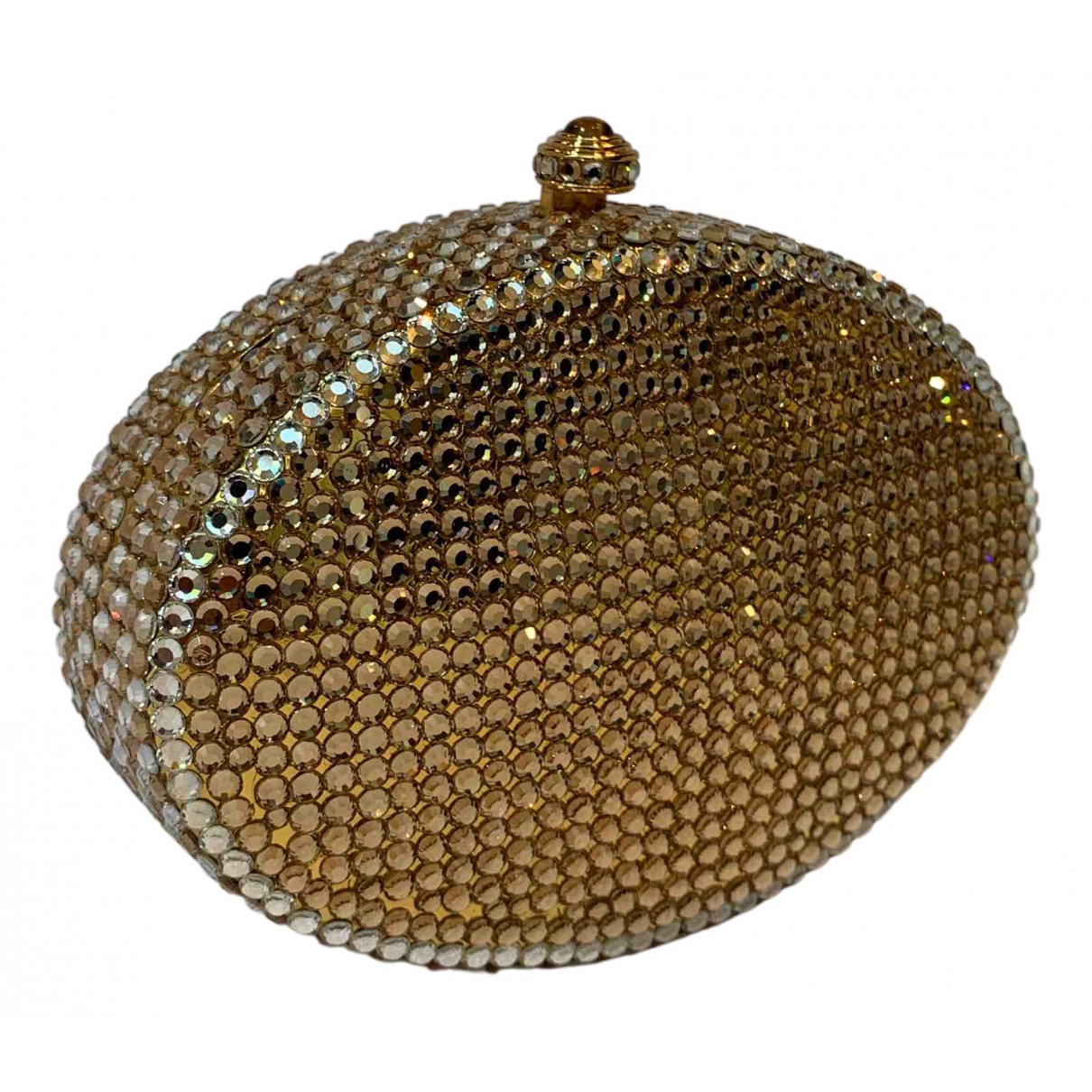 Non Signé / Unsigned N Gold Metal Clutch bag for Women N