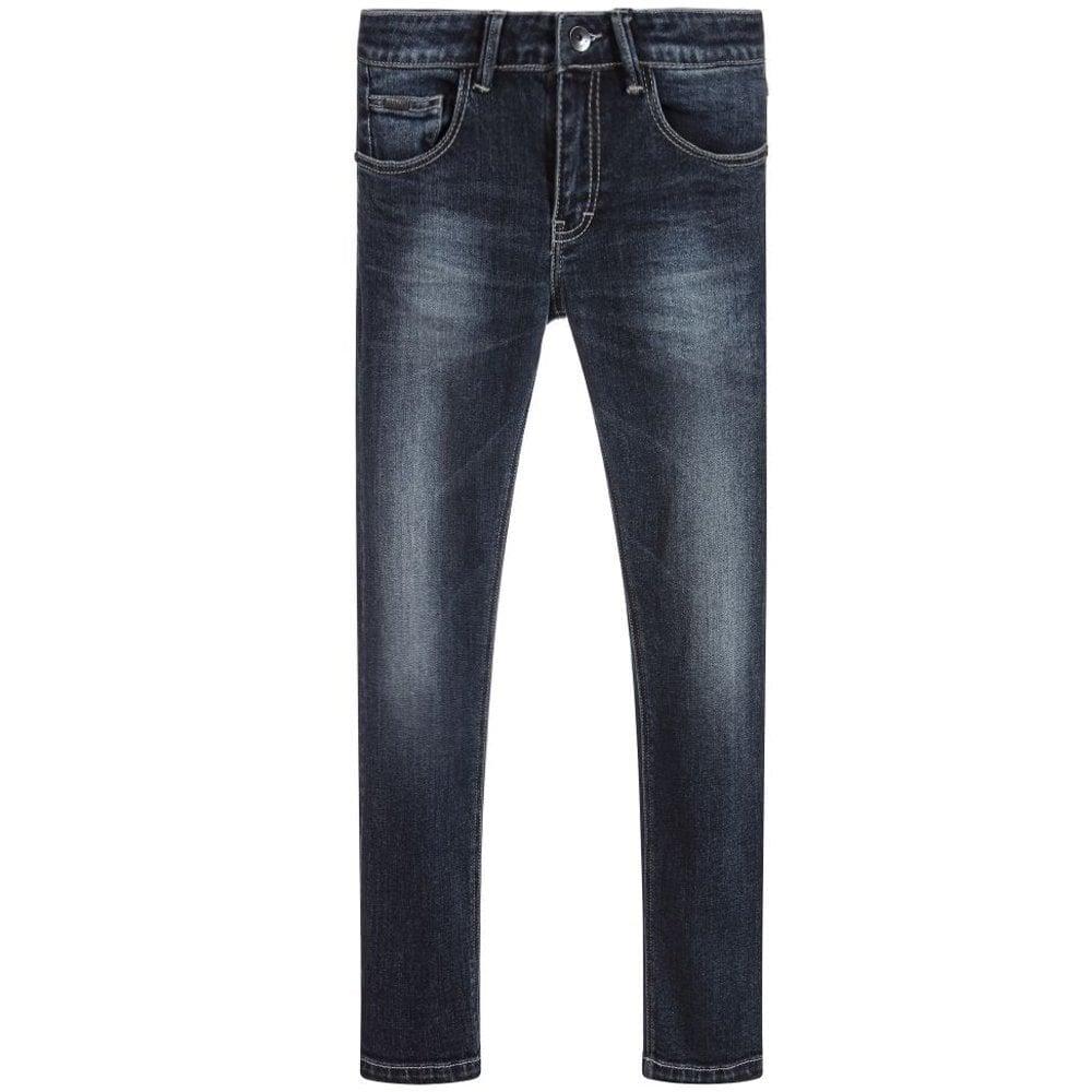 Hugo Boss Kids Denim Skinny Fit Jeans Blue Colour: BLUE, Size: 8 YEARS