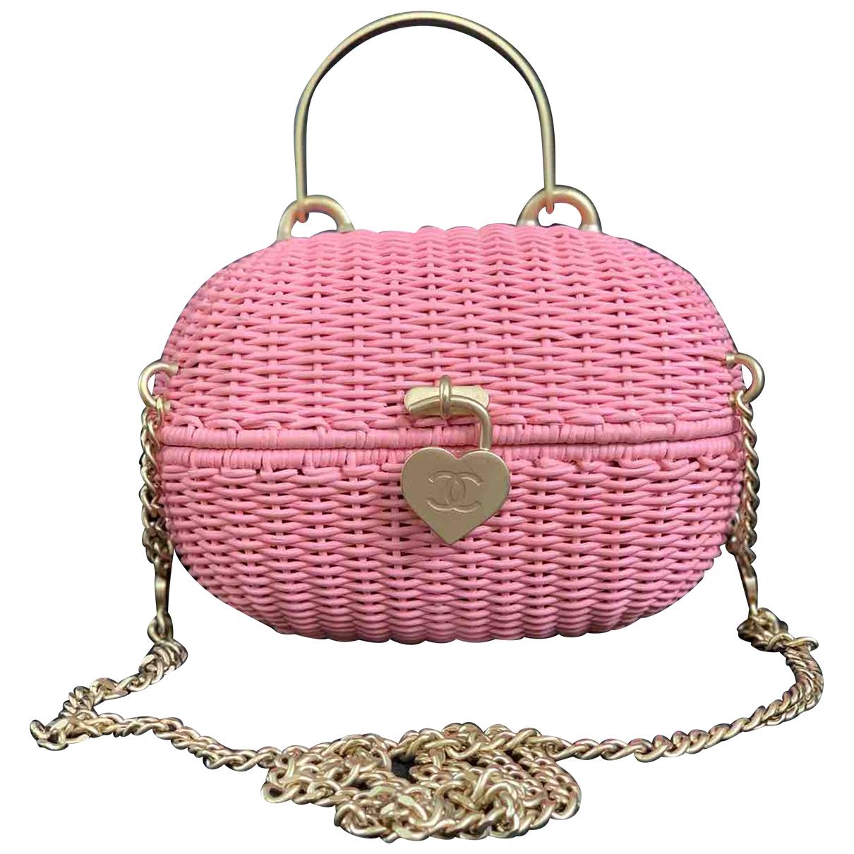 Chanel N Pink Wicker handbag for Women N