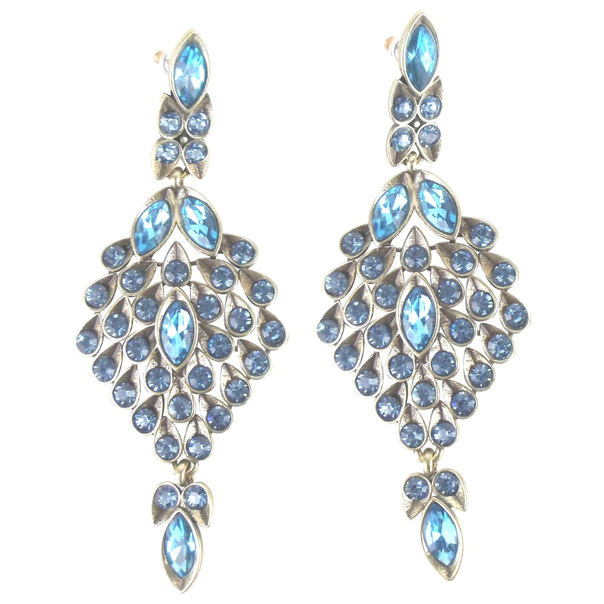 Oscar De La Renta - Boucles doreilles   pour femme en cristal - bleu