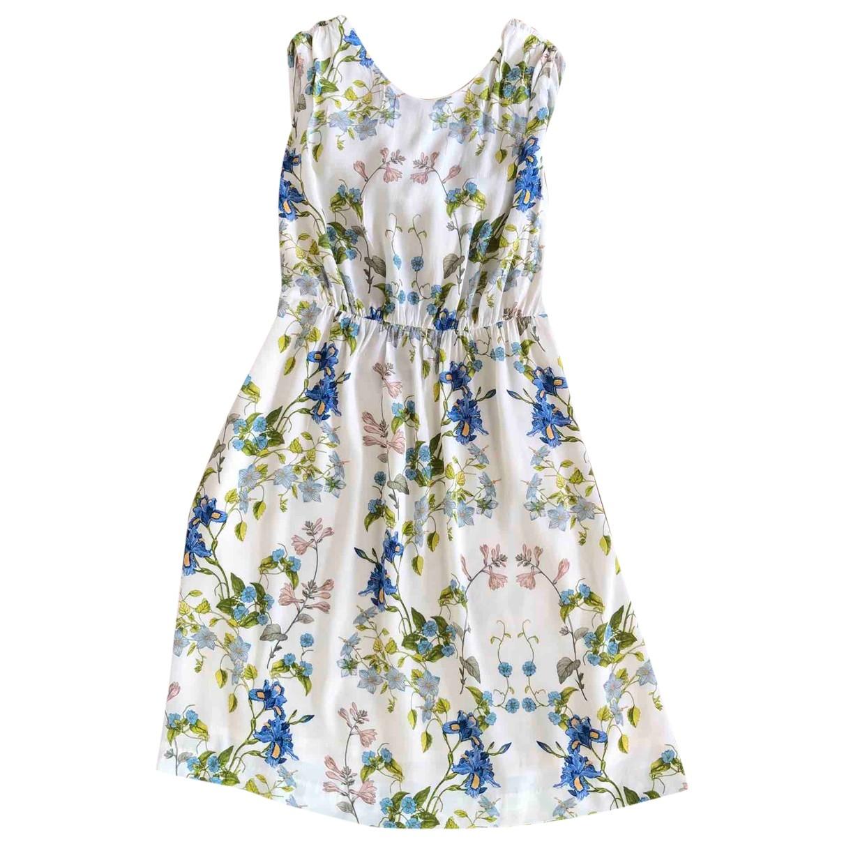 Zara \N Kleid in  Ecru Viskose
