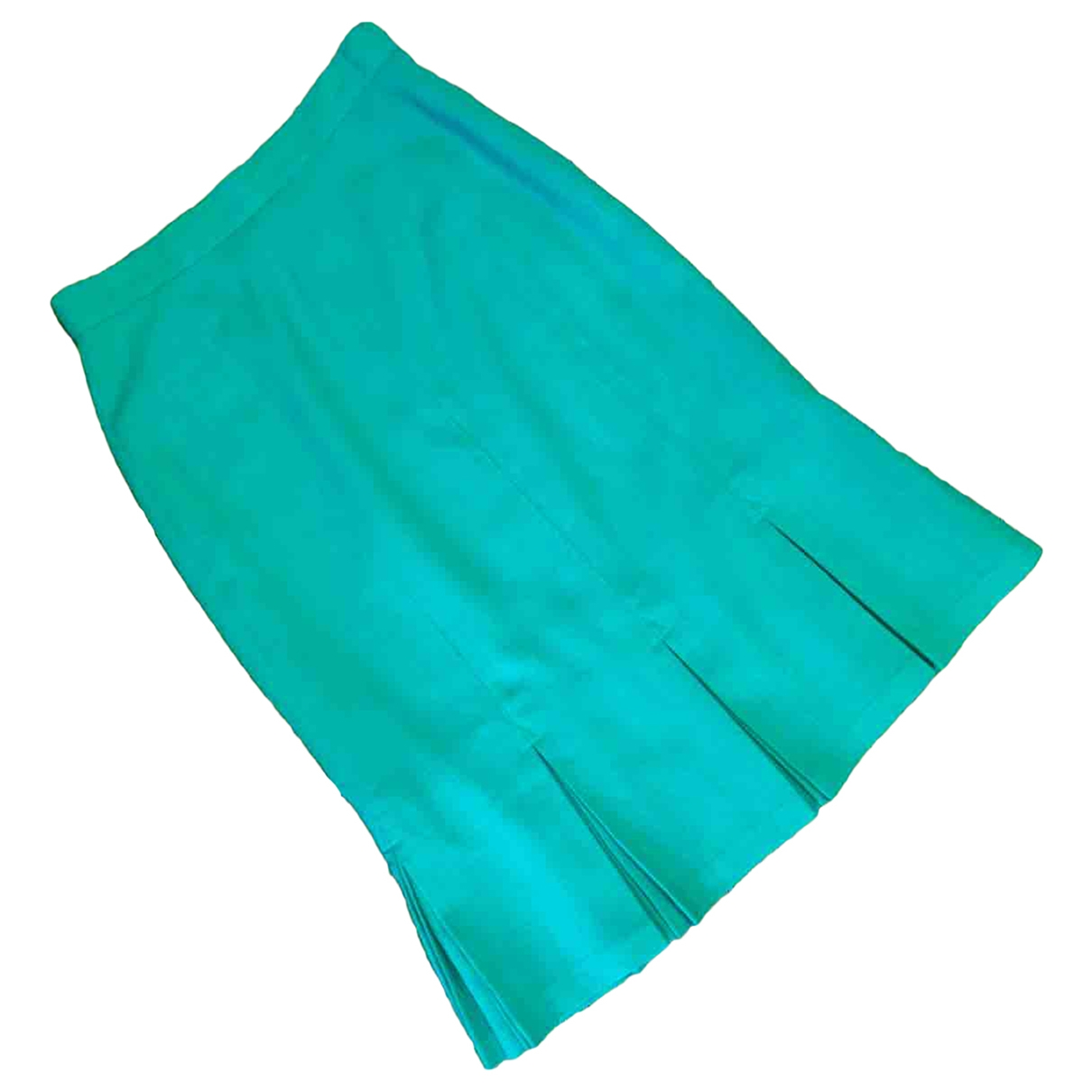 Non Signé / Unsigned \N Turquoise Wool skirt for Women 14 UK