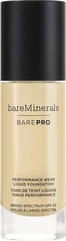 BAREPRO Performance Wear Liquid Foundation Broad Spectrum SPF 20 - Warm Natural 12 (for light warm skin w/ yellow undertones)
