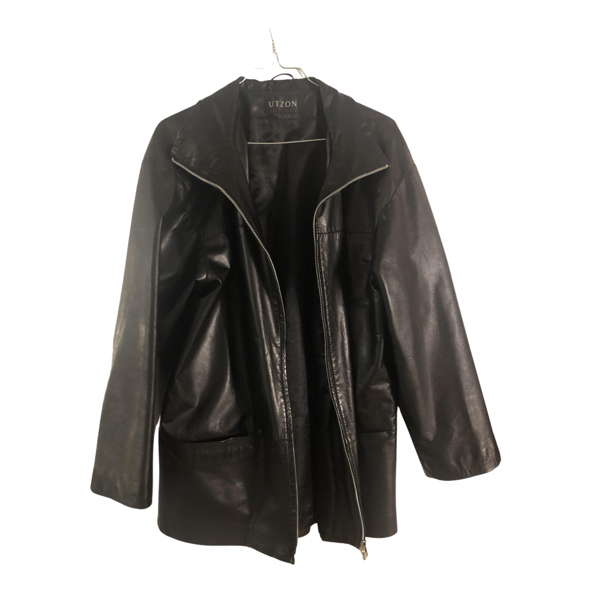 Utzon N Black Leather jacket for Women 38 FR