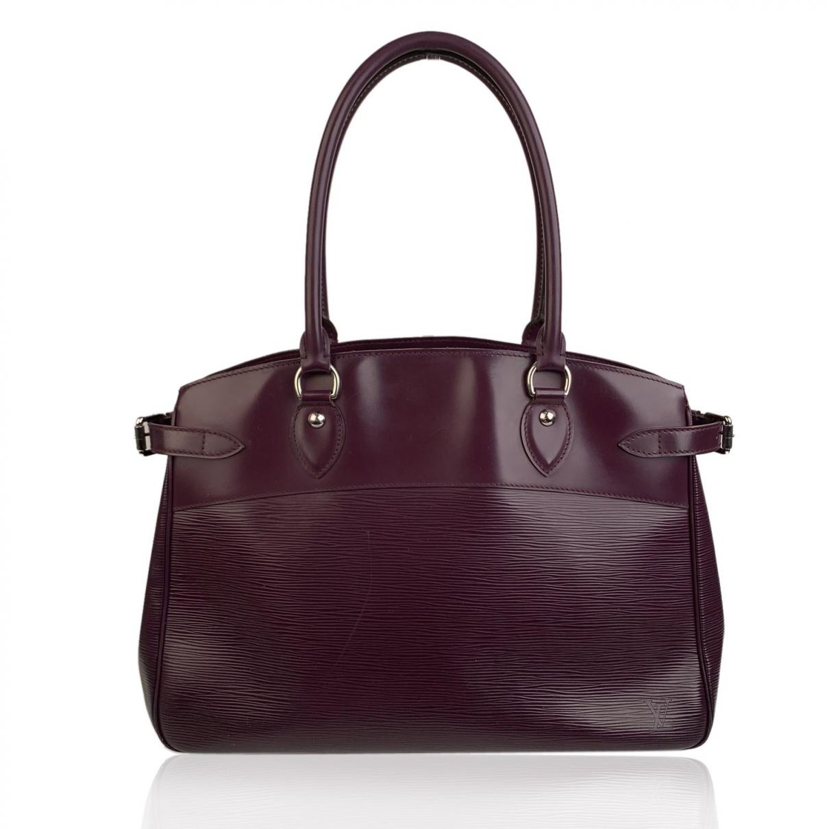 Louis Vuitton - Sac a main Passy pour femme en cuir - violet