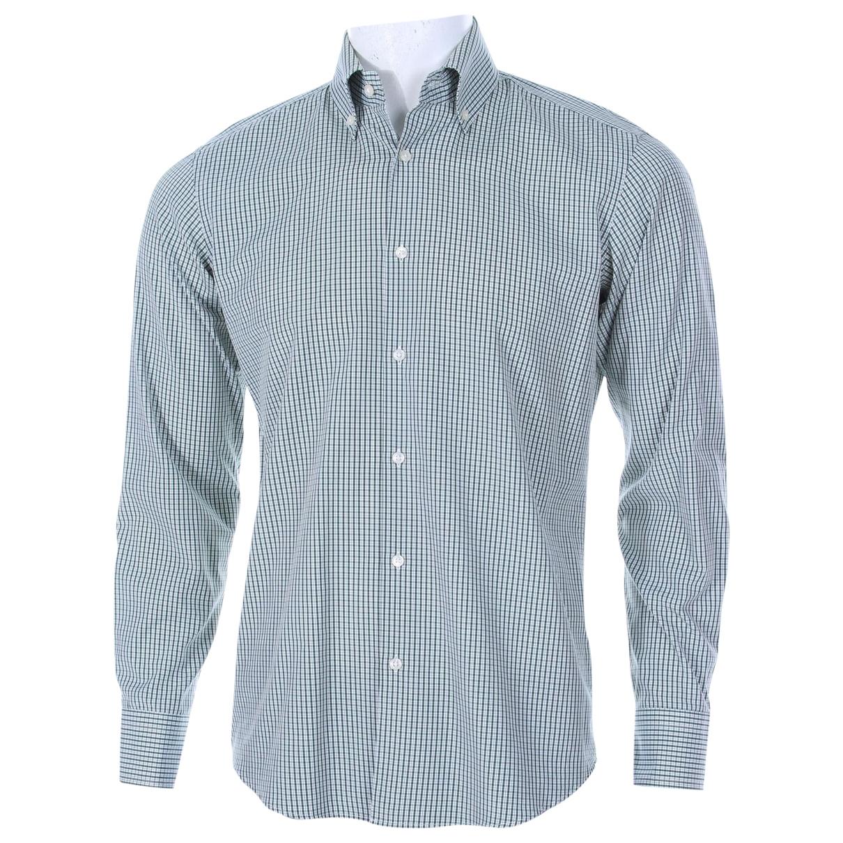 Boss \N Green Cotton Shirts for Men 39 EU (tour de cou / collar)