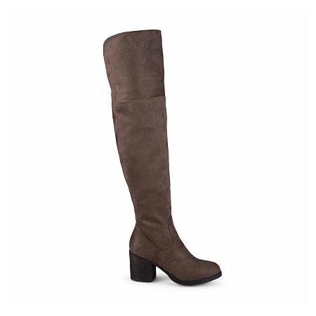 Journee Collection Womens Sana Over the Knee Boots, 8 Medium, Beige