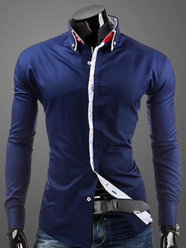 Milanoo Camisas casuales de algodon con mangas largas