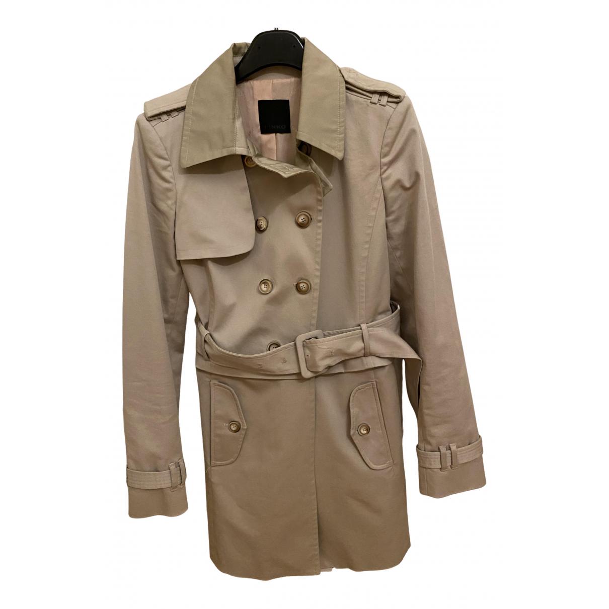 Pinko - Manteau   pour femme en coton - beige