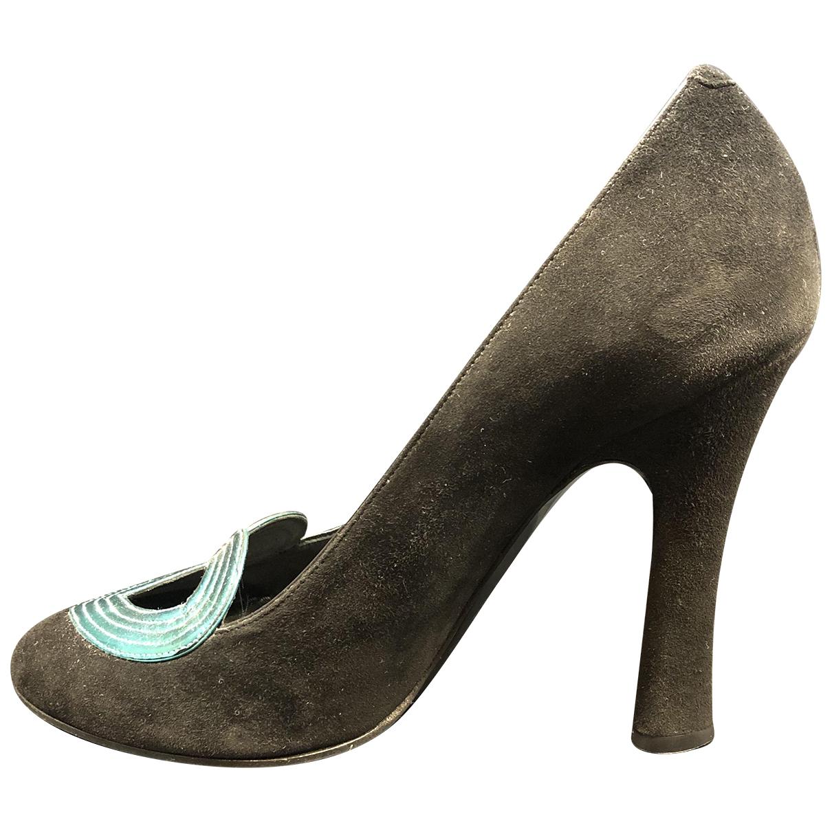 Little Marc Jacobs N Black Suede Heels for Women 40 IT