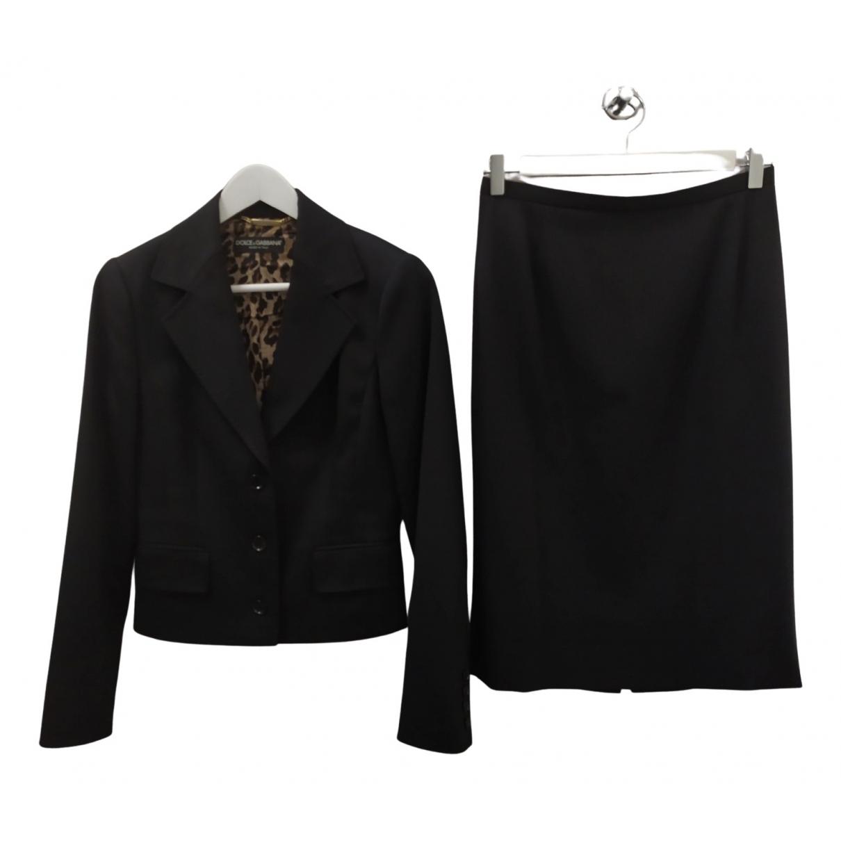 Dolce & Gabbana \N Jumpsuit in  Schwarz Wolle