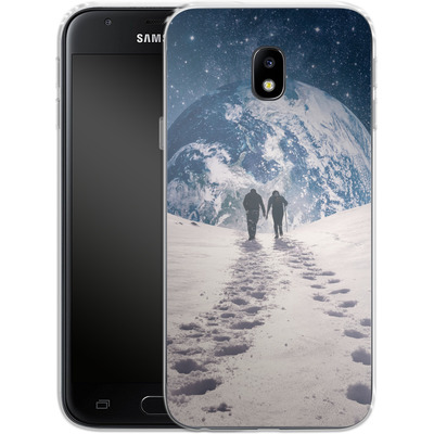 Samsung Galaxy J3 (2017) Silikon Handyhuelle - Pale Blue Dot von Enkel Dika